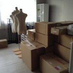 着物や展示会開催資機材の運搬をして参りました。-明石市和坂-