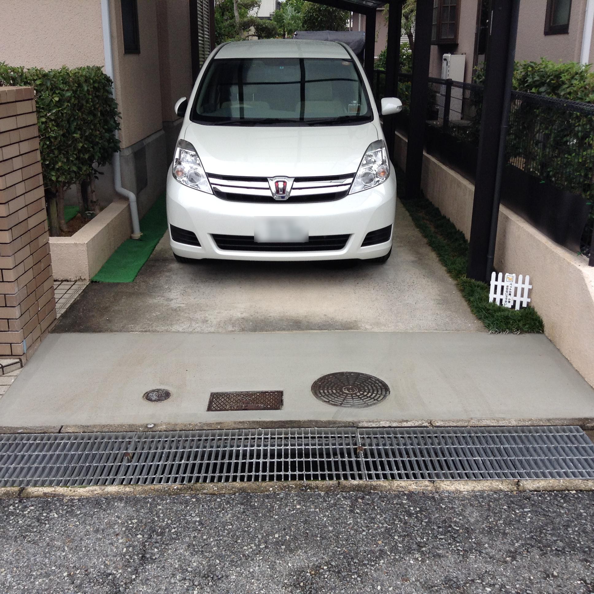 駐車場の補修をしてまいりました。-神戸市西区-
