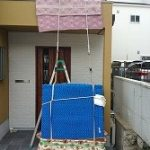 タンスの吊り上げ搬入をしてまいりました。-神戸市灘区天城通-