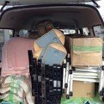 展示会用商品などの運搬作業に行ってまいりました! -明石市大明石町-